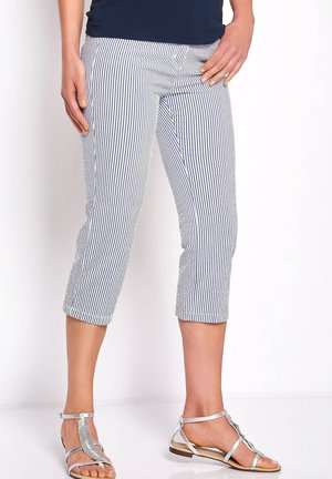 Trousers - marine weiss
