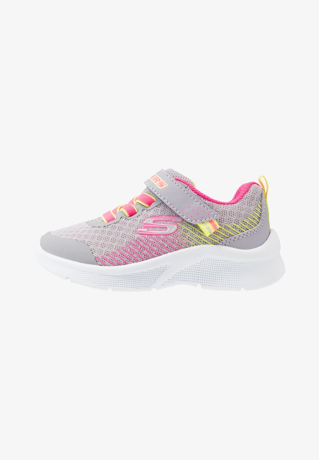 MICROSPEC - Sneaker low - grey/neon pink/lime