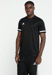 adidas Performance - TEAM 19 - T-shirt imprimé - black - 0