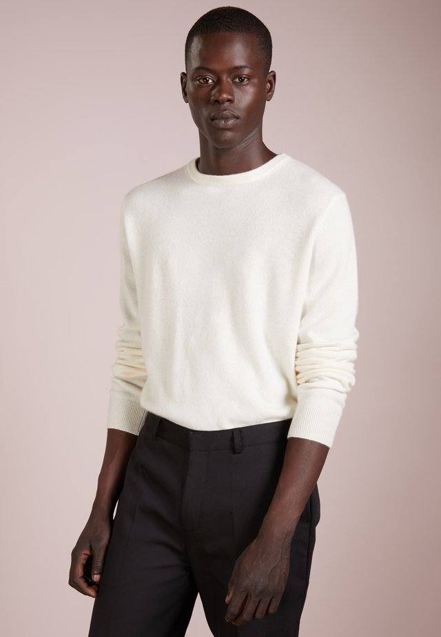 MENS CREW NECK SWEATER - Strikkegenser - ivory