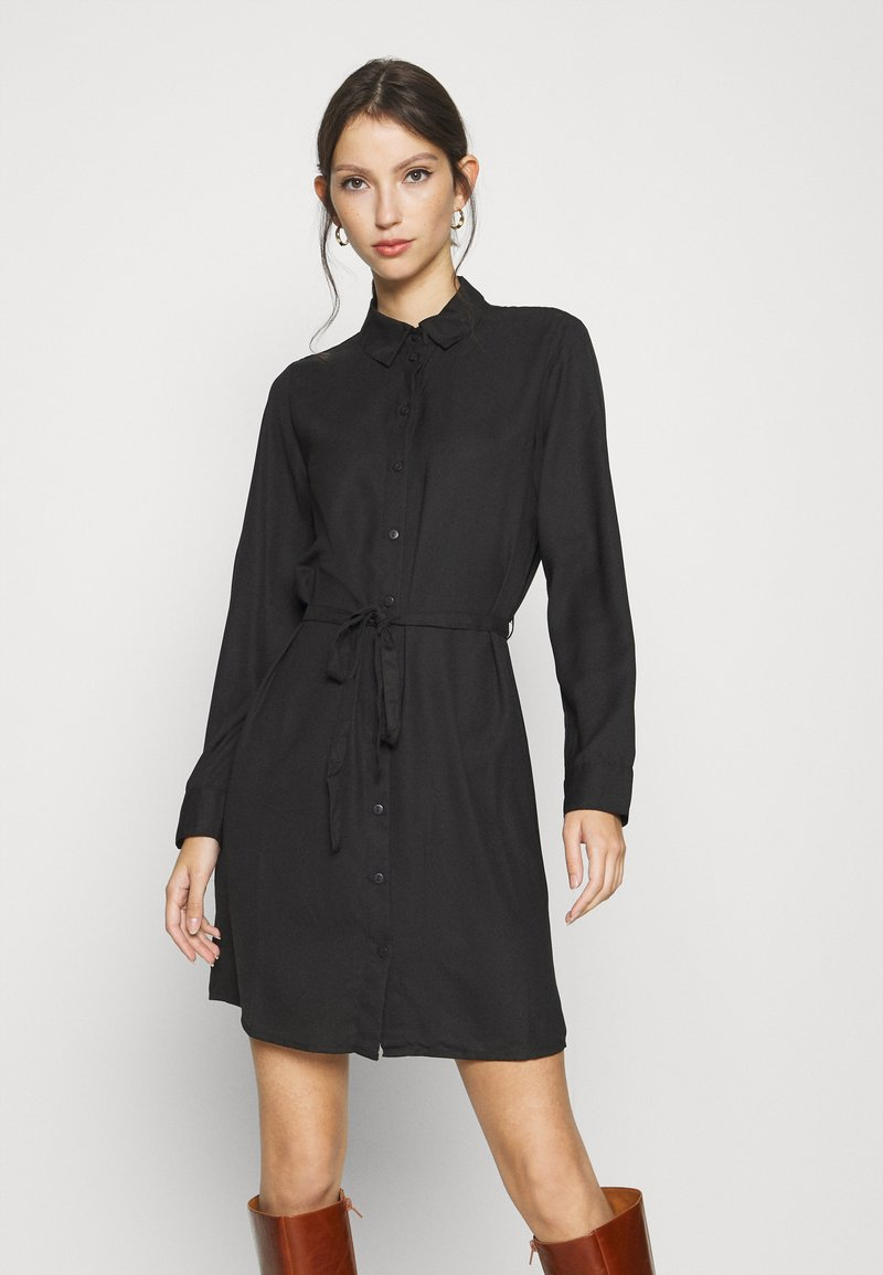 ONLY - ONLEVERLY LONG  - Button-down blouse - black
