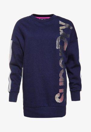 MIT RUNDHALSAUSSCHNITT - Sweater - navy blue/silver
