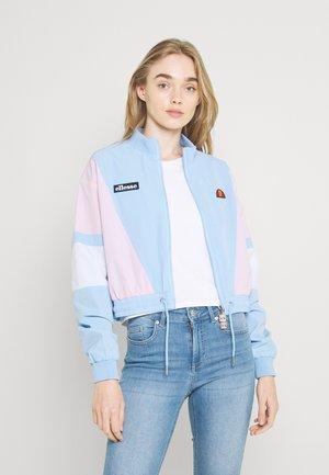 STEPHANIE CROP TRACK  - Summer jacket - light blue