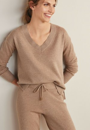 COSY CO-ORD - Svetr - taupe