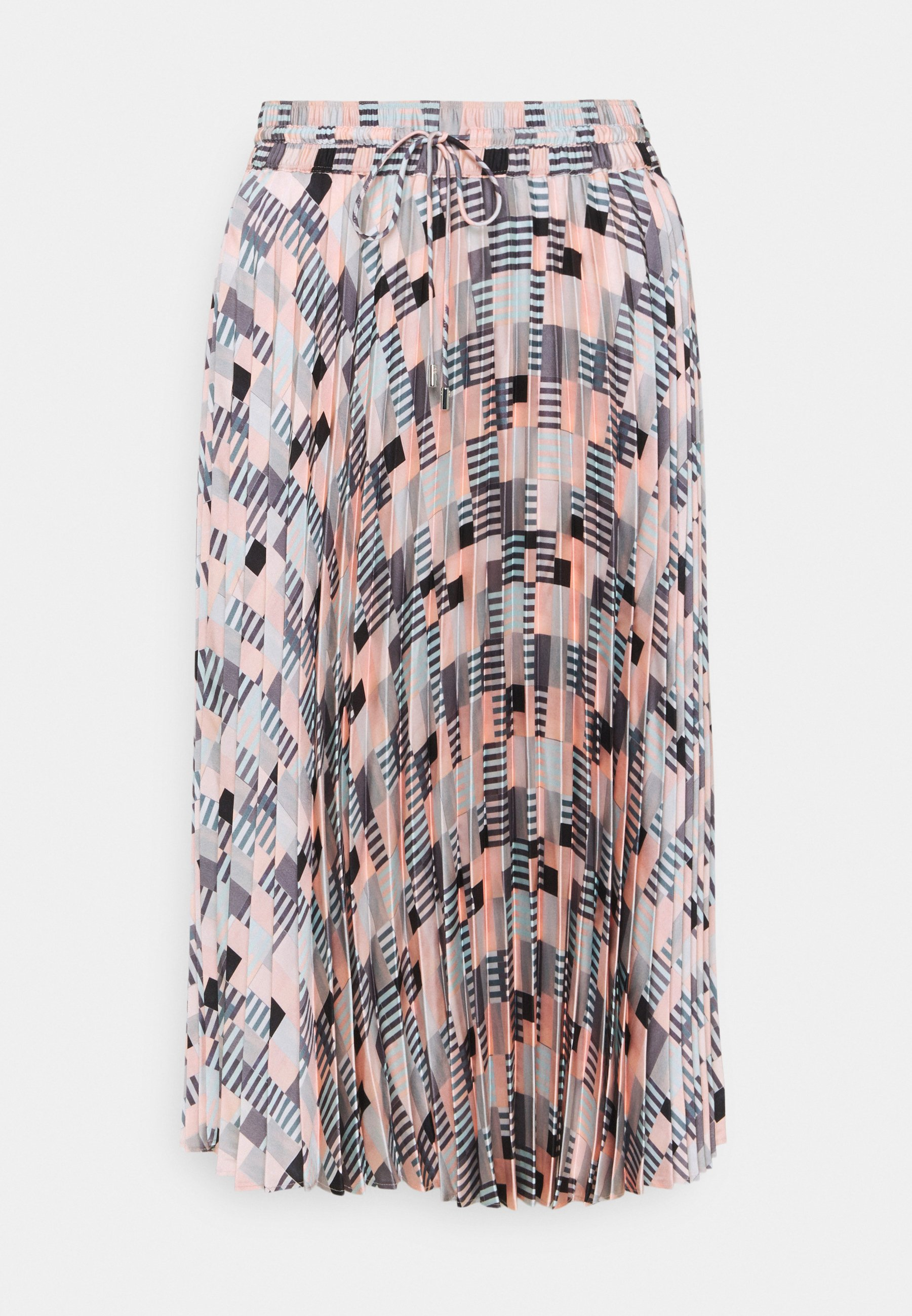 Femme PLEATED GEO SKIRT - Jupe longue
