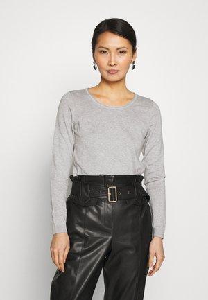 BASIC NECK - Pullover - light grey