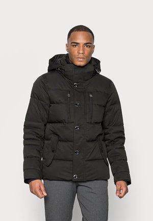 PADDED JACKET WITH HOOD - Winter jacket - black