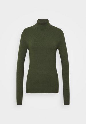VMHAPPY BASIC ROLLNECK - Strikkegenser - black forest