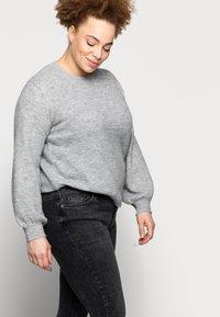 Pieces Curve - PCDELLY - Jeans Skinny Fit - dark grey denim - 3