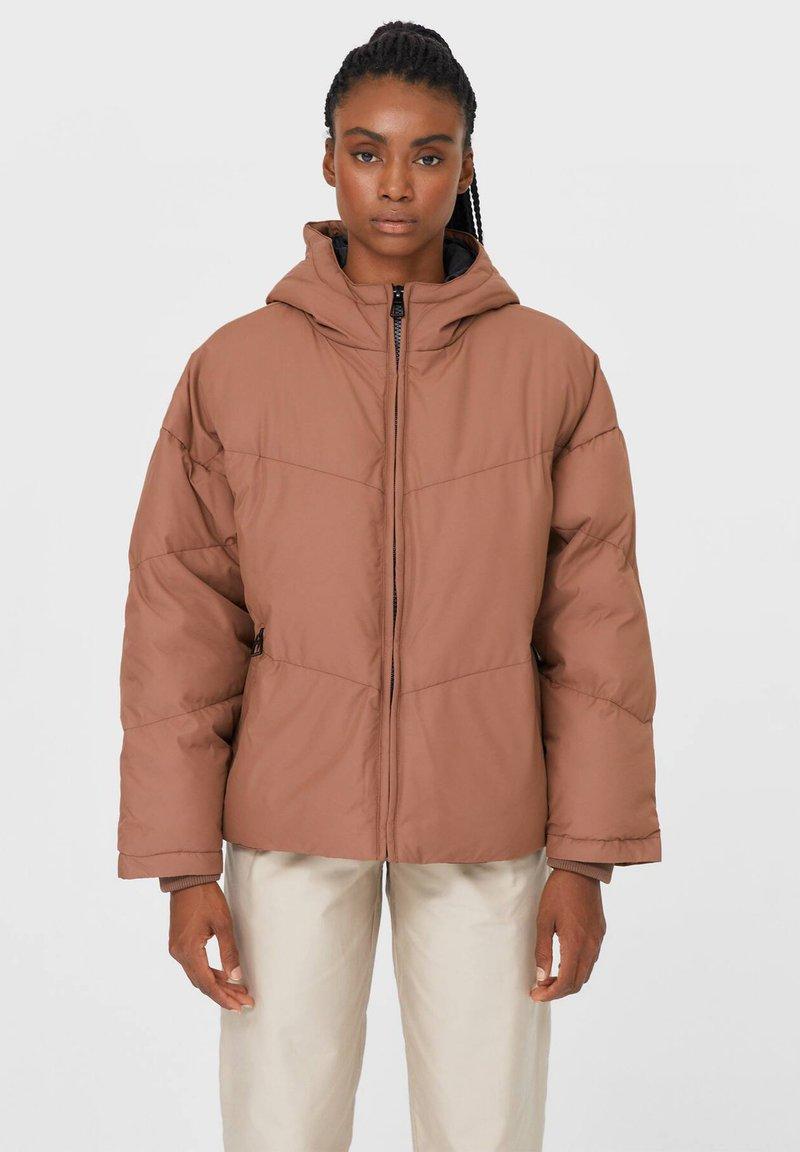 Stradivarius - Winter jacket - light brown