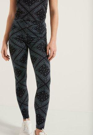 Leggings - Trousers - nero/grigio st bandana