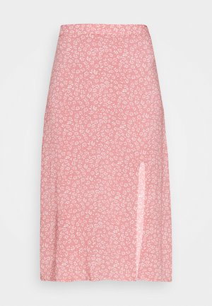 SLIP SKIRT - Gonna a campana - coral