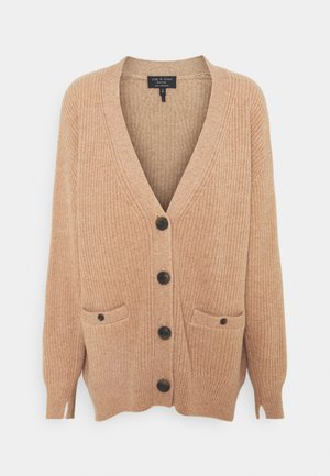 PIERCE LONG CARDIGAN - Chaqueta de punto - camel