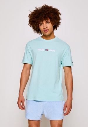 LINEAR LOGO TEE - T-shirt con stampa - aqua coast