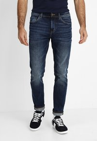 TOM TAILOR - JOSH - Slim fit jeans - mid stone wash denim - 0