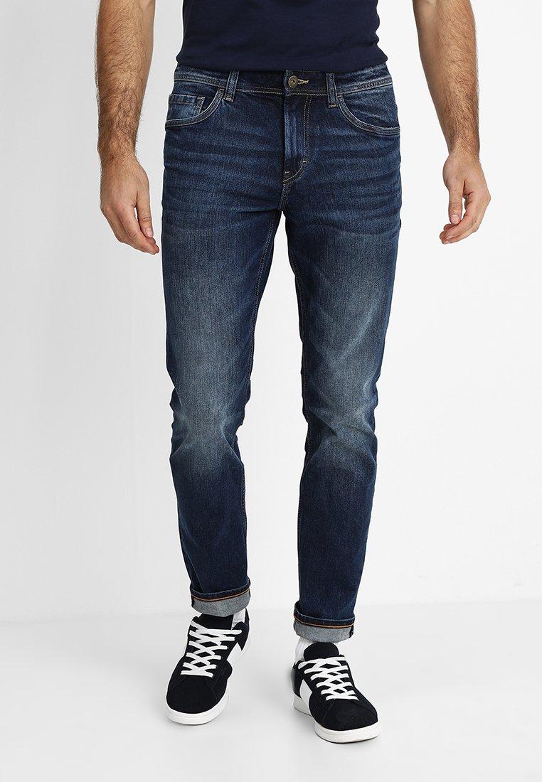 TOM TAILOR - JOSH - Slim fit jeans - mid stone wash denim