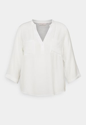 CARFRANKY SLEEVE V NECK - Blouse - cloud dancer