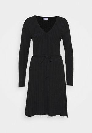 VIAURA SHORT DRESS - Robe pull - black