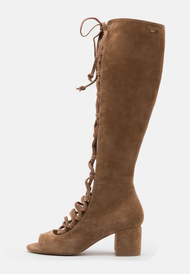 THELMA  - Lace-up boots - tan