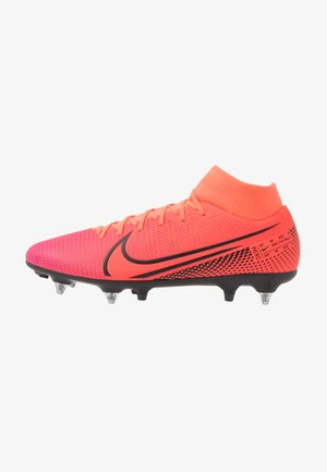 MERCURIAL 7 ACADEMY SG-PRO AC - Screw-in stud football boots - laser crimson/black