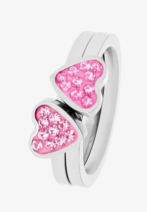 Ring - silver-coloured, pink