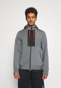 Jordan - AIR FULL ZIP - Tröja med dragkedja - smoke grey/total orange/black - 0
