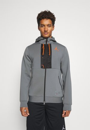 AIR FULL ZIP - Hoodie met rits - smoke grey/total orange/black