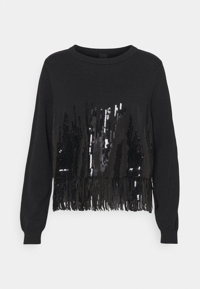 SNOWBOARD MAGLIA - Stickad tröja - black