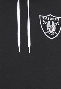 New Era - LAS VEGAS RAIDERS NFL CONTRAST PANEL HOODY - Felpa con zip - black - 5