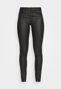 OBJBELLE PANTS - Jeans Skinny Fit - black