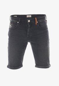 LTB - CORVIN - Denim shorts - black denim - 2