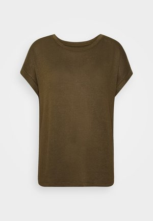 VMBRIANNA O-NECK  - T-shirt basic - fir green/ivy green melange