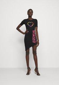 GCDS - ELEMENTS DRESS - Jersey dress - black - 1