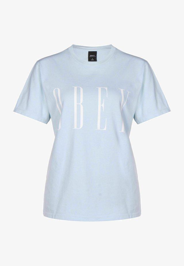 T-shirt con stampa - china blue