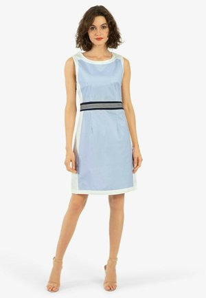 Robe d'été - weiß blau