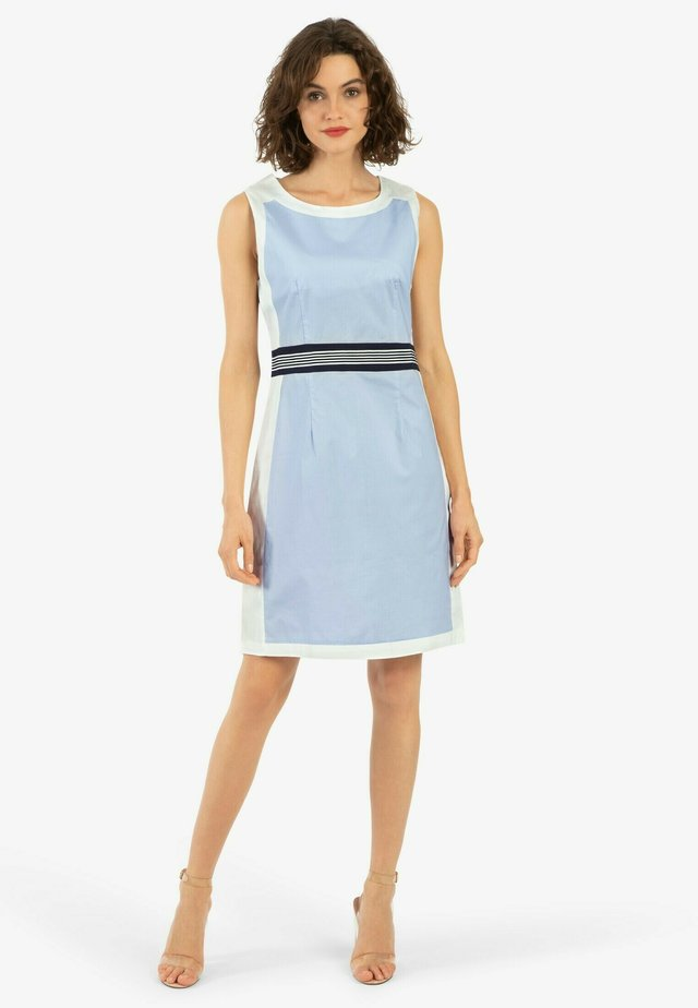 Korte jurk - weiß blau