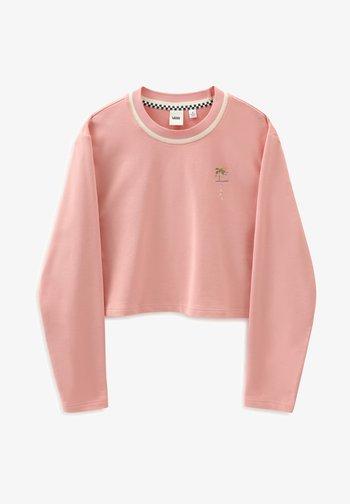 WM RETRO RETIREMENT CREW - Sweatshirt - coral almond
