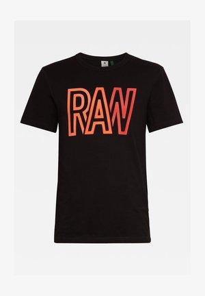 RAW - T-shirt print - dk black