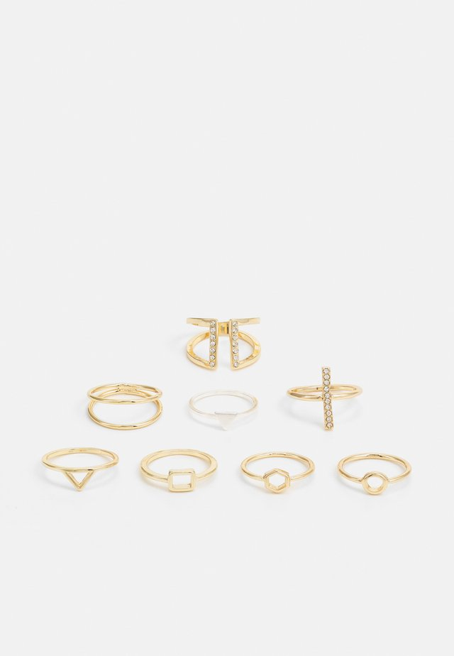 LUKA RINGS 8 PACK - Sormus - gold-coloured