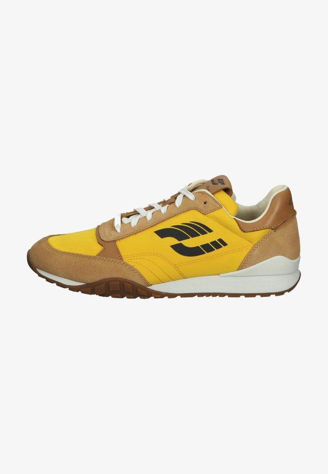 Sneakers laag - tan combi