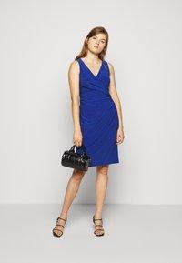 Lauren Ralph Lauren - MID WEIGHT DRESS - Jersey dress - summer sapphire - 1