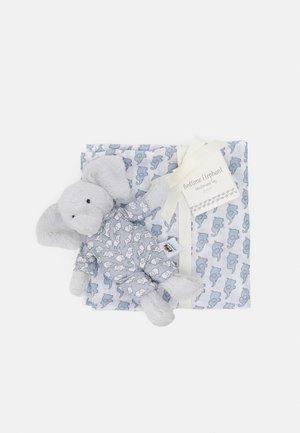 BEDTIME ELEPHANT GIFT SET UNISEX - Knuffel - white/blue