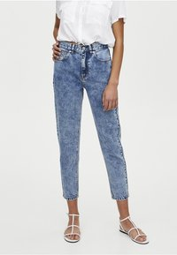 PULL&BEAR - MOM FIT - Straight leg jeans - blue denim - 0