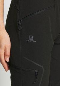 Salomon - WAYFARER TAPERED PANT - Outdoor trousers - black - 4
