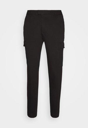 PONTE - Cargo trousers - black