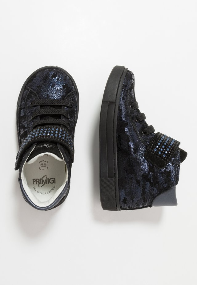 High-top trainers - blu/nero