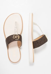 MICHAEL Michael Kors - LILLIE THONG - Flip Flops - brown - 3