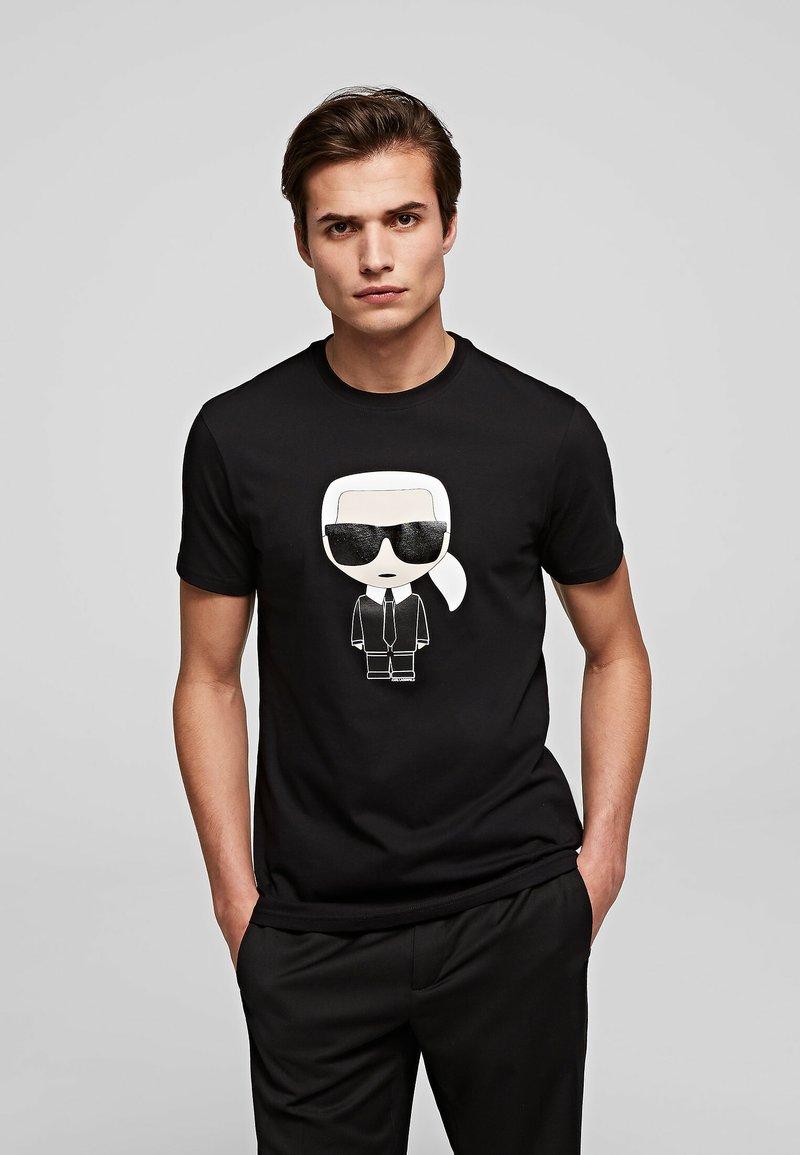 KARL LAGERFELD - IKONIK  - Print T-shirt - black