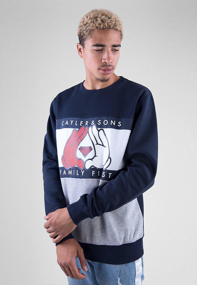 Cayler & Sons - C&S WL FIRST CREWNECK - Sweatshirt - navy/heather grey