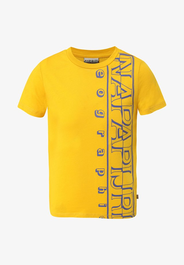 K SERI - Print T-shirt - mango yellow